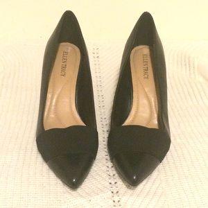 Ellen Tracy Women's Black Leather Pump - Size 9.5